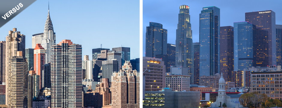New York vs. Los Angeles