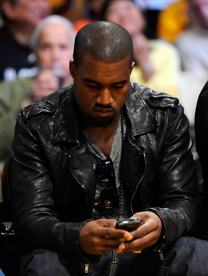Black Berry vs. iPhone: Celebrities Weigh in - Kanye West uses his BlackBerry to 'Runaway'