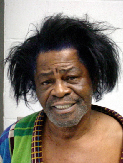 Celebrity Mug Shots - '04 James Brown does not feel good about domestic violence anymore