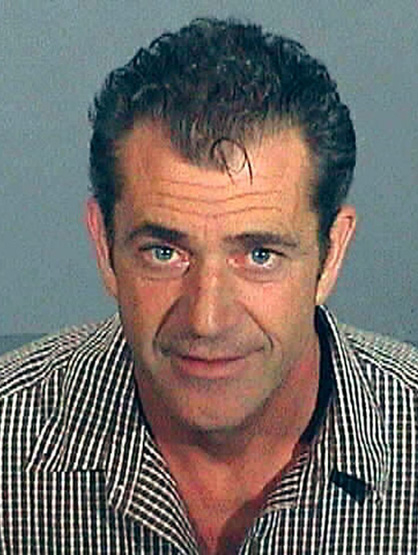 Celebrity Mug Shots - In '06 Mel Gibson started a downward spiral driven by a lethal weapon: his mouth