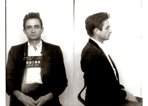 Celebrity Mug Shots - 1965 was the year the 'Man in Black' understands that pep pills and tranquilizers equal jail time