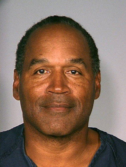 Celebrity Mug Shots - For some reason murder charges do not bother O.J. Simpson in 1994