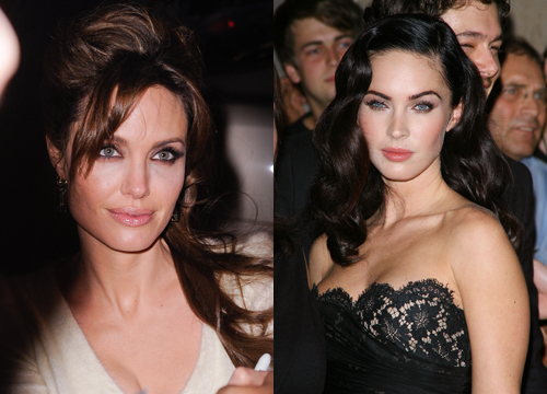 Celebrities Who Look Like Other Celebrities. - Angelina Jolie and Megan Fox