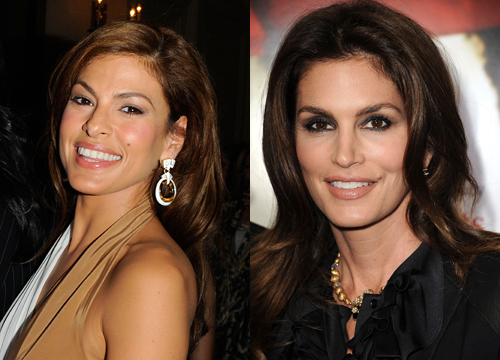 Celebrities Who Look Like Other Celebrities. - Eva Mendes and Cindy Crawford