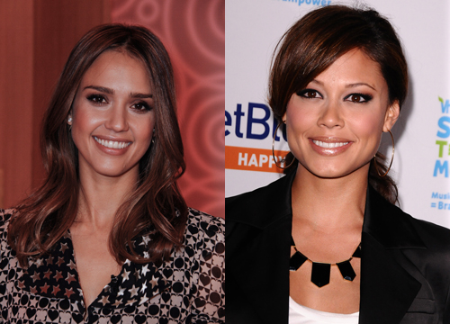 Celebrities Who Look Like Other Celebrities. - Jessica Alba and Vanessa Minnilo