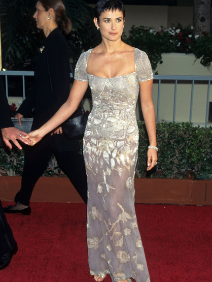Demi Moore Through the Years - (Jan 1995) The 52nd Annual Golden Globe Awards.