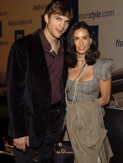 Demi Moore Through the Years - (Feb 2005) Ashton Kutcher and Demi Moore during 4th Annual 'ten' Fashion Show Presented By General Motors.