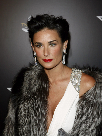 Demi Moore Through the Years - (Feb 2008) Demi Moore attends the 1st Hollywood Domino Tournament hosted by De Grisogono at the Beverly Hills Hotel.