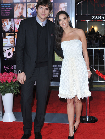 Demi Moore Through the Years - (Feb 2010) Ashton Kutcher and Demi Moore arrive to the Los Angeles Premiere of 'Valentine's Day.'