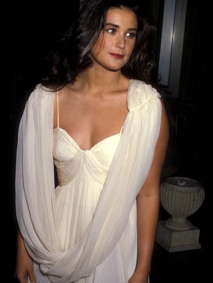 Demi Moore Through the Years - (Jan 1984) Demi Moore attends the 41st Annual Golden Globe Awards.
