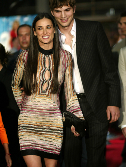 Demi Moore Through the Years - (June 2003) Demi Moore and Ashton Kutcher during Premiere of 'Charlie's Angels: Full Throttle.'