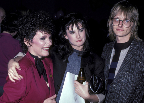 Demi Moore Through the Years - (Mar 1982) Maryedith Burrell, Demi Moore and husband Freddie Moore attend the 'Fridays' Season Three Wrap-Up Party.