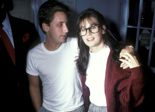 Demi Moore Through the Years - (Oct 1986) Emilio Estevez and actress Demi Moore attend 'The Early Girl' Off-Broadway at Circle Repertory Theatre in New York City.