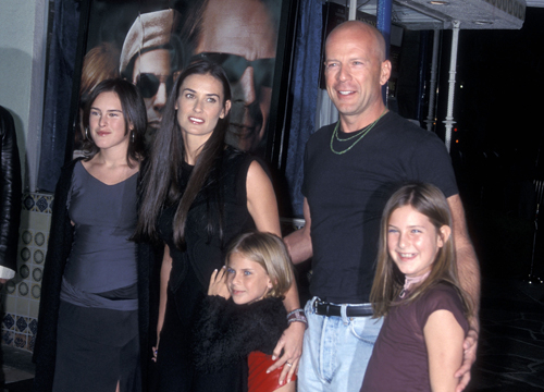 Demi Moore Through the Years - (Oct 2001) Demi Moore, Bruce Willis and daughters Rumer Willis, Tallulah Willis and Scout Willis the 'Bandits' Premiere.