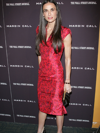 Demi Moore Through the Years - (Oct 2011) Actress Demi Moore attends the 'Margin Call' premiere.