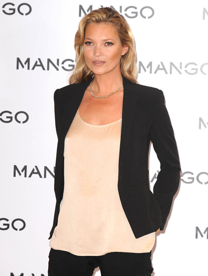 Faces and Places - 1.24.2012 Kate Moss at a promotional event for