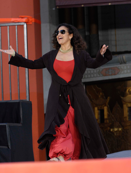 Faces and Places - 1.26.2012 Debbie Allen during a ceremony honoring the late Michael Jackson with Hand and Footprints in Cement, held at Grauman's Chinese Theatre.