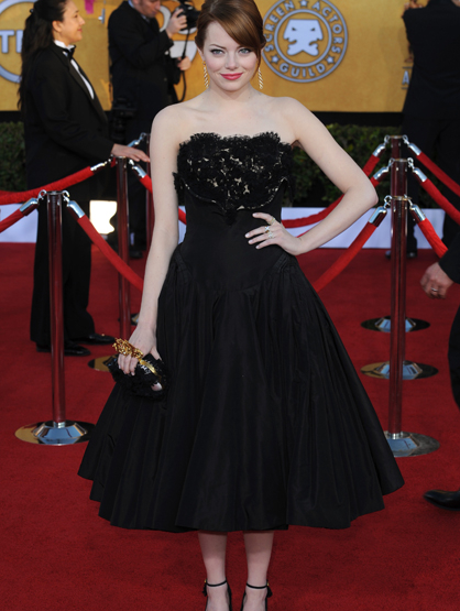 Faces and Places - 1.29.2012 Emma Stone at the 18th Annual Screen Actors Guild Awards (SAG)