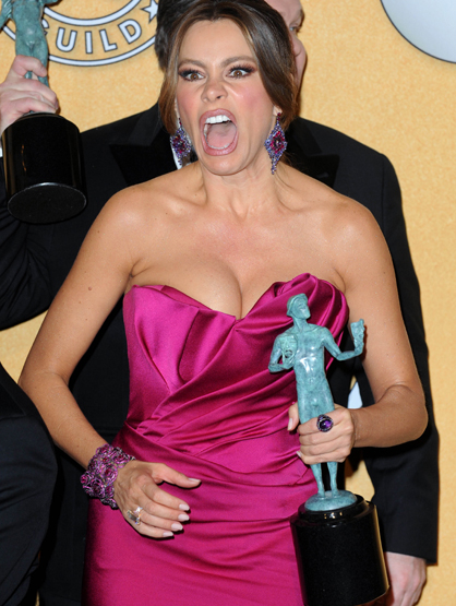 Faces and Places - 1.29.2012 Sofia Vergara at the 18th Annual Screen Actors Guild Awards (SAG).