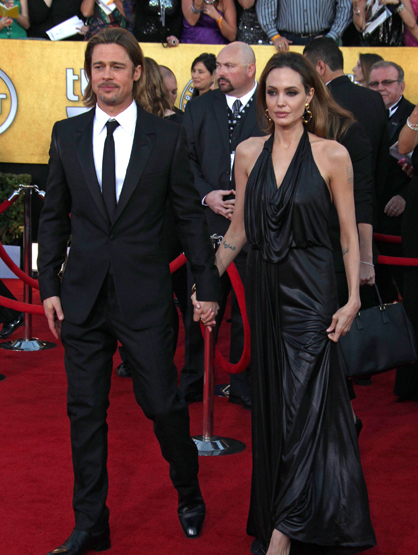 Faces and Places - 1.29.2012 Brad Pitt and Angelina Jolie at the 18th Annual Screen Actors Guild Awards (SAG).