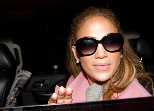 Faces and Places - 1.31.2012 Jennifer Lopez out and about. (NYC)