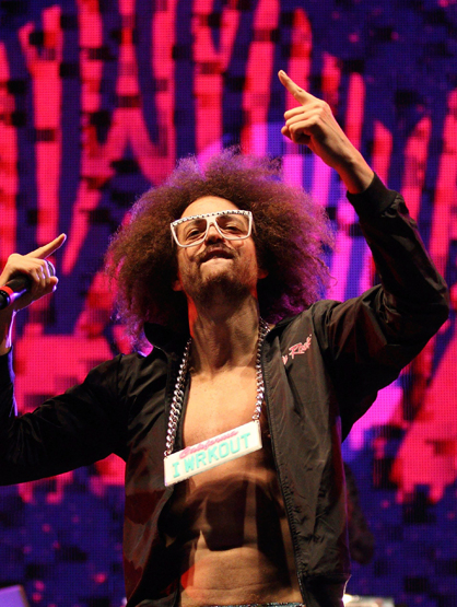 Faces and Places - 02.04.2012 LMFAO performing at the Super Bowl.