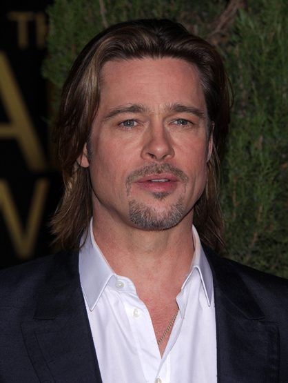 Faces and Places - 2.6.2012 Brad Pitt at the Academy Awards Nominee Luncheon. (Beverly Hills, CA)