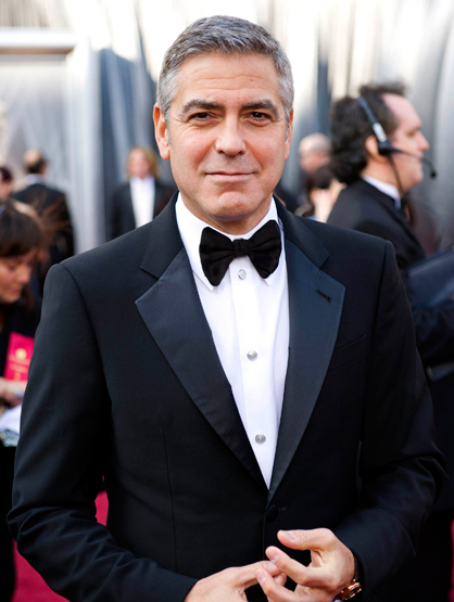 Faces and Places - 2.26.2012 George Clooney arriving for the 84th Academy Awards.