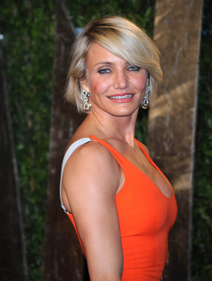 Faces and Places - 2.26.2012 Cameron Diaz at the Vanity Fair Oscar Party.