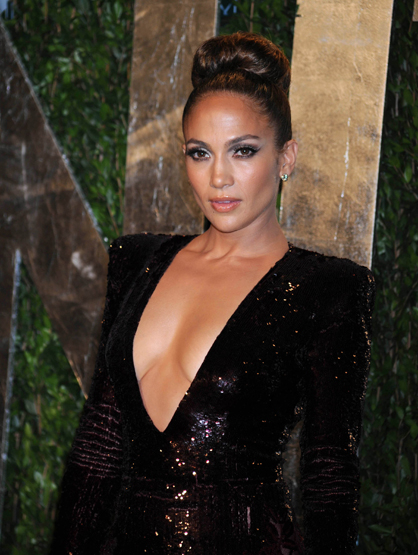 Faces and Places - 2.26.2012 Jennifer Lopez at the Vanity Fair Oscar Party.