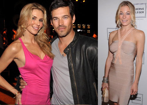 Celebrity Love Triangles - Brandi Glanville's marriage to Eddie Cibrian´s ended with claims he cheated on her with Leann Rimes.