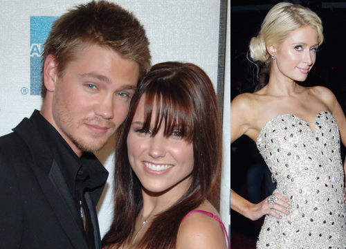 Celebrity Love Triangles - Sophia Bush and Chad Michael Murray seemed to be happily married, until he allegedly cheated on her with Paris Hilton.