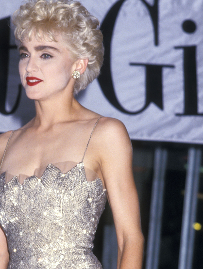 Madonna Through the Years - (Aug 1987) Madonna attends the 'Who's That Girl' New York City Premiere at the National Theatre in New York City.
