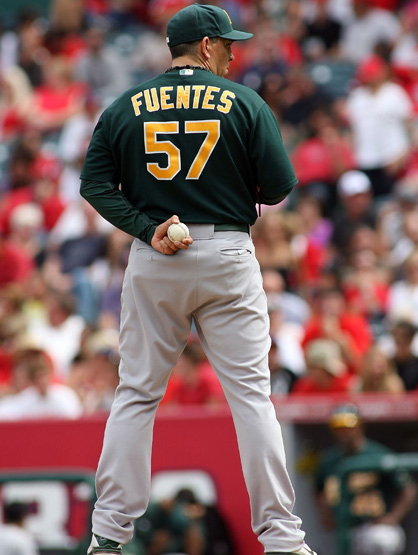 Latinos in Sports - Brian Fuentes striking them out left & right.