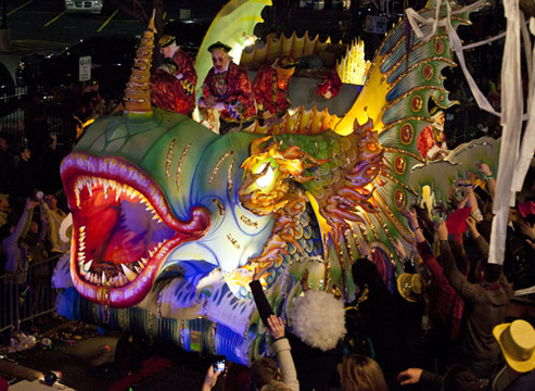 Mardi Gras 2012 - A Mardi Gras float in the 2012 Krewe of Proteus Parade in New Orleans, Louisiana.