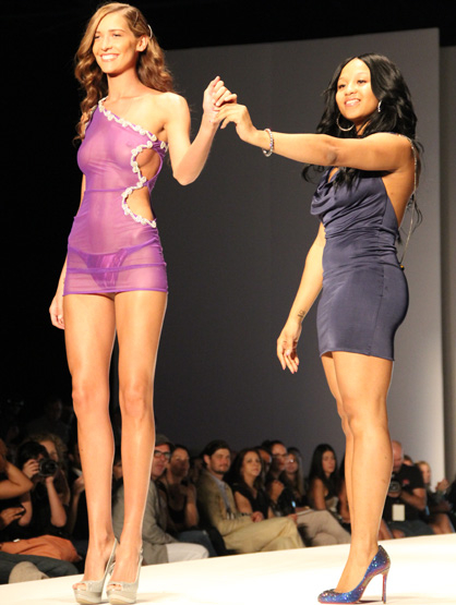 Fashion Show: Maddsexy - Designer Rachelle Gisme saves her purple one shouldered nighty to show off as her final piece