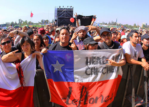 Lollapalooza Chile - Fans of the Deftones come out to support Chi Cheng.