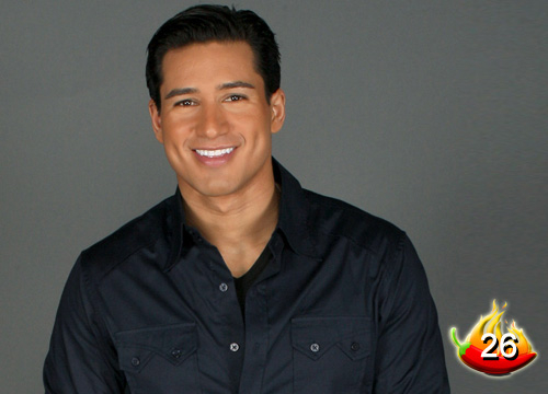 The Sexiest Men on TV - #26: Mr. Dimples, Mario Lopez... He's on so many shows, we'll just name 