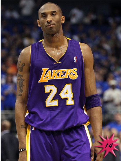 Forbes Top 25 Celebrities - Basketball star Kobe Bryant became famous when he was traded to the Lakers in 1996. Currently he is the NBA's biggest start in China and dealing with the surprising end to the Lakers season when they were beat in the playoffs. Earnings: $53 mil