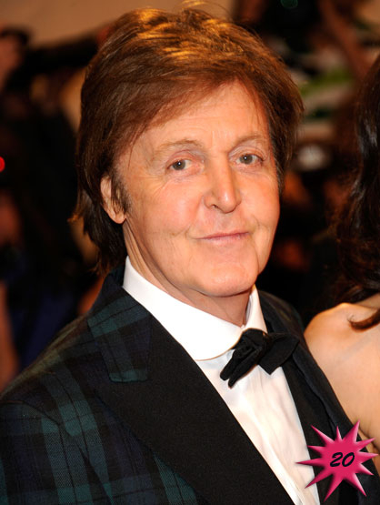 Forbes Top 25 Celebrities - Former Beetle Paul McCartney became famous after the song Love Me Do when viral in 1962. Currently he is campaigning for animal rights and other causes when he isn't touring. Earnings: $67 mil