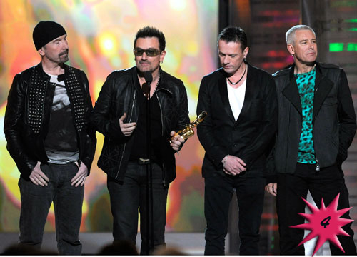 Forbes Top 25 Celebrities - Rock Band: U2, became famous in 1983 with their song Sunday Bloody Sunday. Currently the band is on tour. Earnings: $195 mil