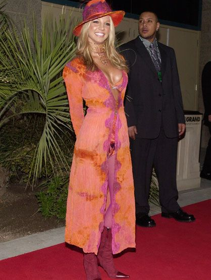 Worst Celebrity Fashion Mistakes - Britney Spears at the 2000 ...