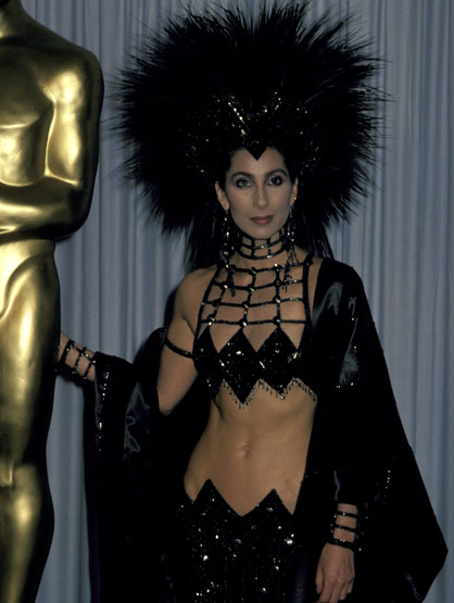 Worst Celebrity Fashion Mistakes - Cher at the 1986 Academy Awards
