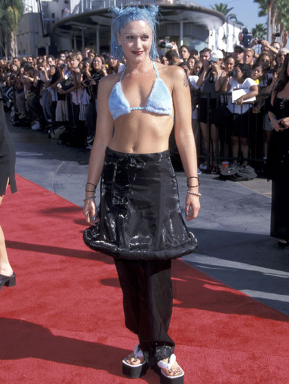 Worst Celebrity Fashion Mistakes - Gwen Stefani 1998 MTV Video Music Awards