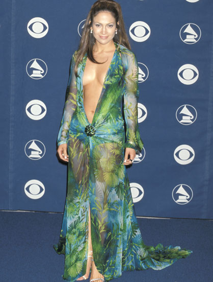 Worst Celebrity Fashion Mistakes - Jennifer lopez at the 42nd Annual GRAMMY Awards 2000