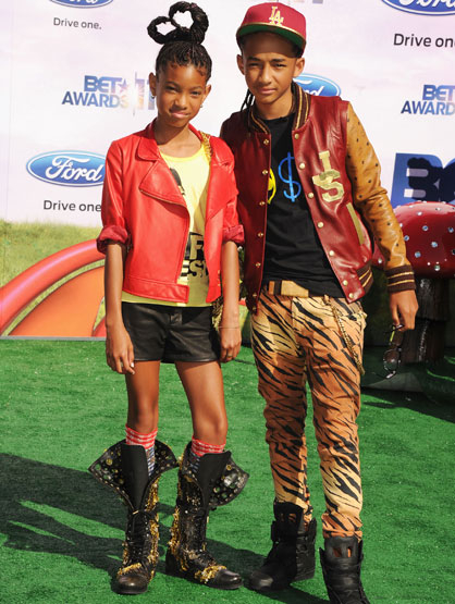 The Fashion at the BET Awards - Jaden Smith/Willow Smith