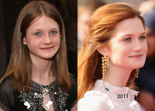 Harry Potter Through the Years - Bonnie Wright plays Ginny Weasley