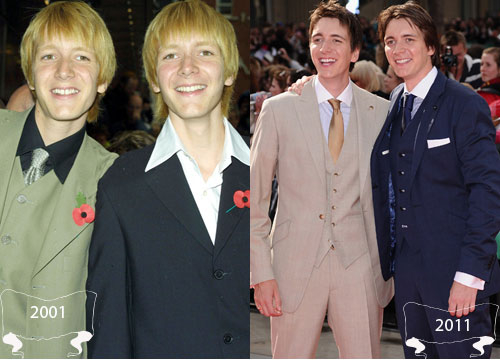 Harry Potter Through the Years - Oliver and James Phelps play Fred and George Weasley