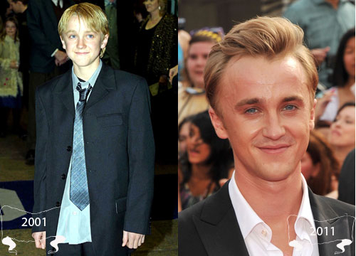 Harry Potter Through the Years - Tom Felton plays Draco Malfoy