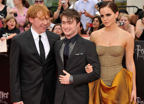 Harry Potter Through the Years - The famous trio in 2011